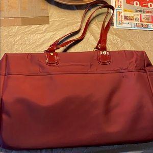Large Red tote bag.